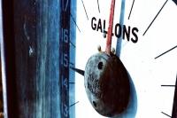 oude benzinepomp
