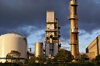 Afbeelding van een chemische fabriek