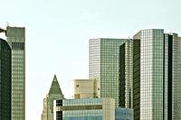 Skyline van (bank)gebouwen