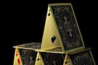 Afbeelding van een kaartenhuis