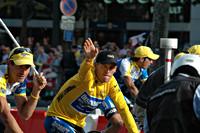 Lance Armstrong en George Hincapie tijdens de Tour de France 2006