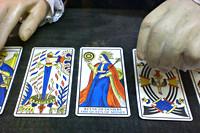 Tarotkaarten met de afbeelding met de 'koninging van het geld'