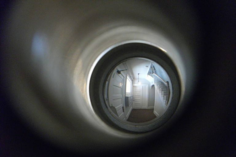 Kijkglas in deur